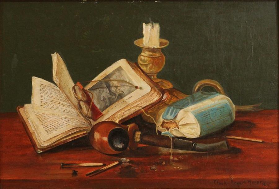 CLAUDE RAGUET HIRST OIL ON WOOD PANEL,, C.1875