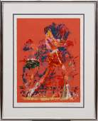 LEROY NEIMAN SERIGRAPH ON PAPER RED BOXERS