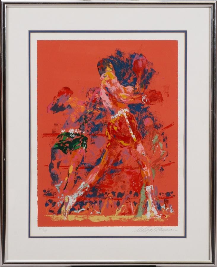 "LEROY NEIMAN SERIGRAPH ON PAPER ""RED BOXERS"""