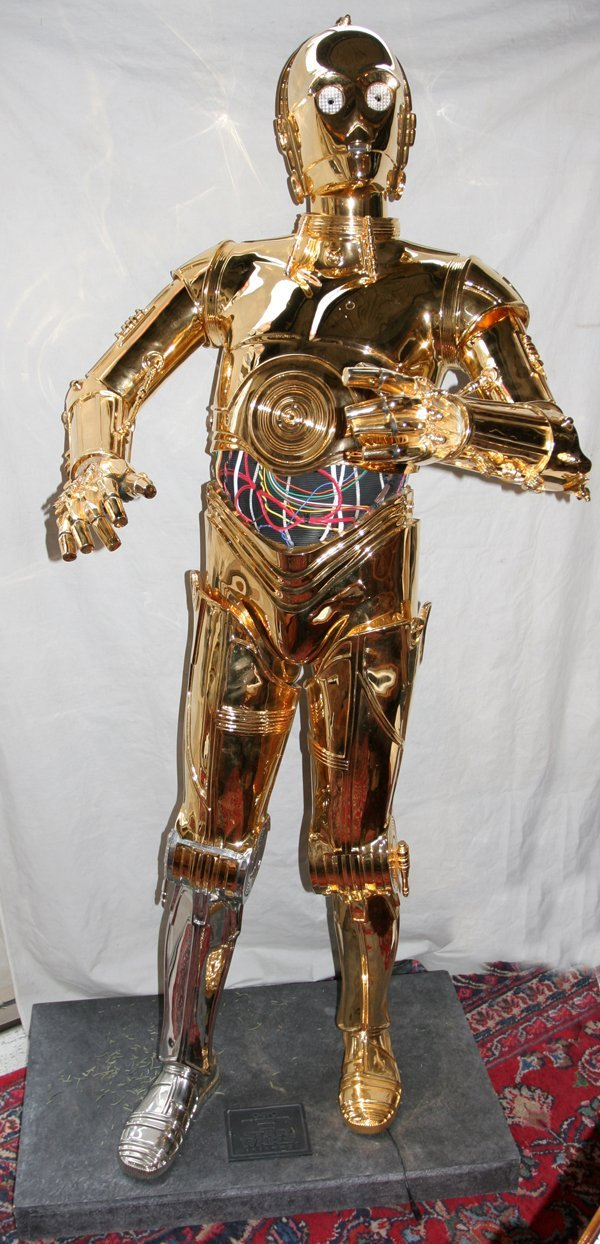 020323: STAR WARS TRILOGY C-3PO PROP REPLICA,77, H72""