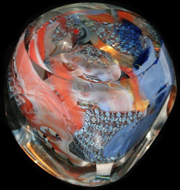 021450: RICHARD RITTER ART GLASS SCULPTURE 1987