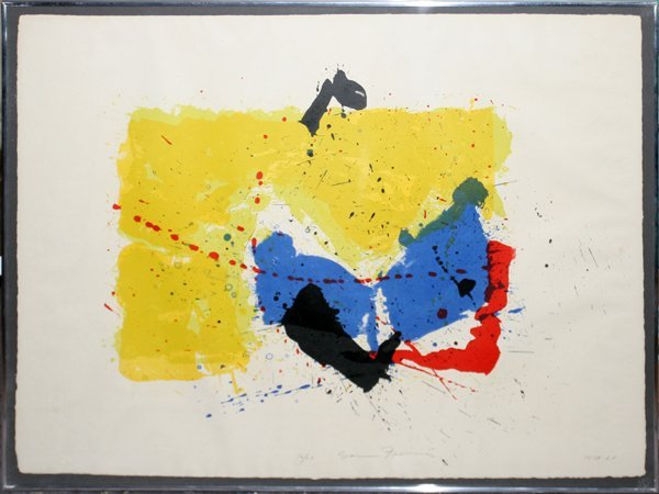 022001: SAM FRANCIS LITHO, #16/26 FIVE STONE UNTITLED
