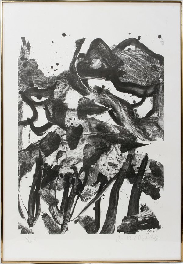 "022004: WILLEM DE KOONING LITHO, #7/20 ""THE MARSHES"""