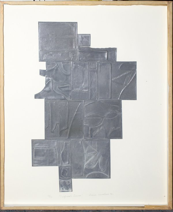 022010: LOUISE NEVELSON INTAGLIO 'TROPICAL LEAVES'