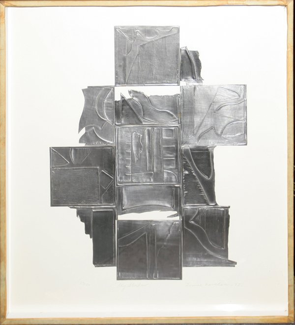 "022011: LOUISE NEVELSON INTAGLIO ""SKY SHADOW"""