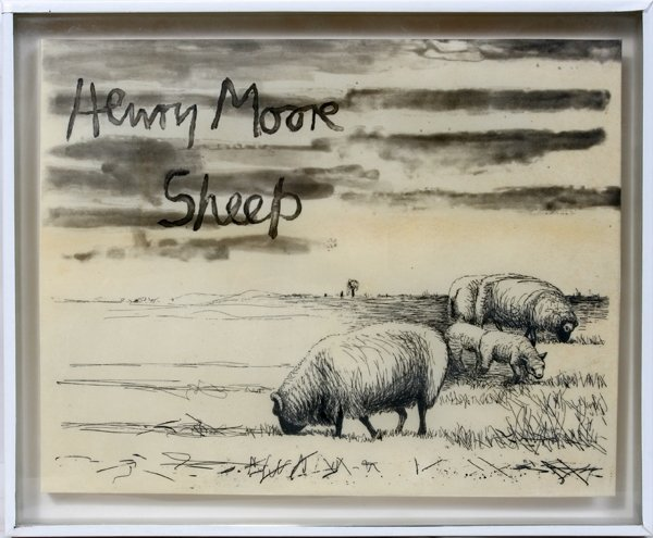 "022019: HENRY MOORE 12 ETCHINGS ""THE SHEEP ALBUM"""