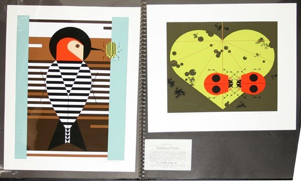 022136: CHARLES HARPER GRAPHIC ALBUM W/37 SERIGRAPHS