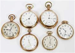ELGIN AND ILLINOIS GOLD FILLED POCKET WATCHES