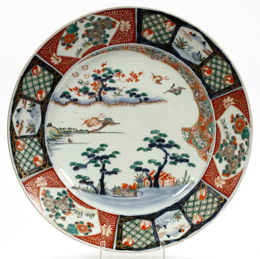 JAPANESE IMARI PORCELAIN CHARGER, 19TH C.