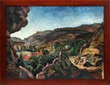 ZOLTAN SEPESHY OIL ON CANVAS, 1928