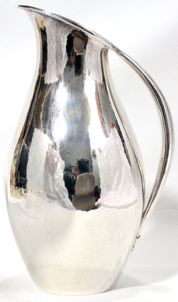 031002: GEORG JENSEN STERLING SILVER PITCHER BY ROHDE