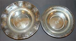 031101 WALLACE STERLING SILVER BOWLS ROSE POINT