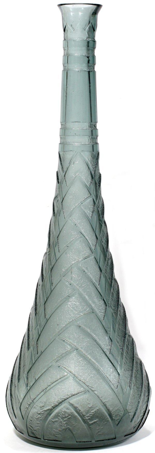 032010: DAUM NANCY ART DECO BULLET SHAPE VASE C. 1930