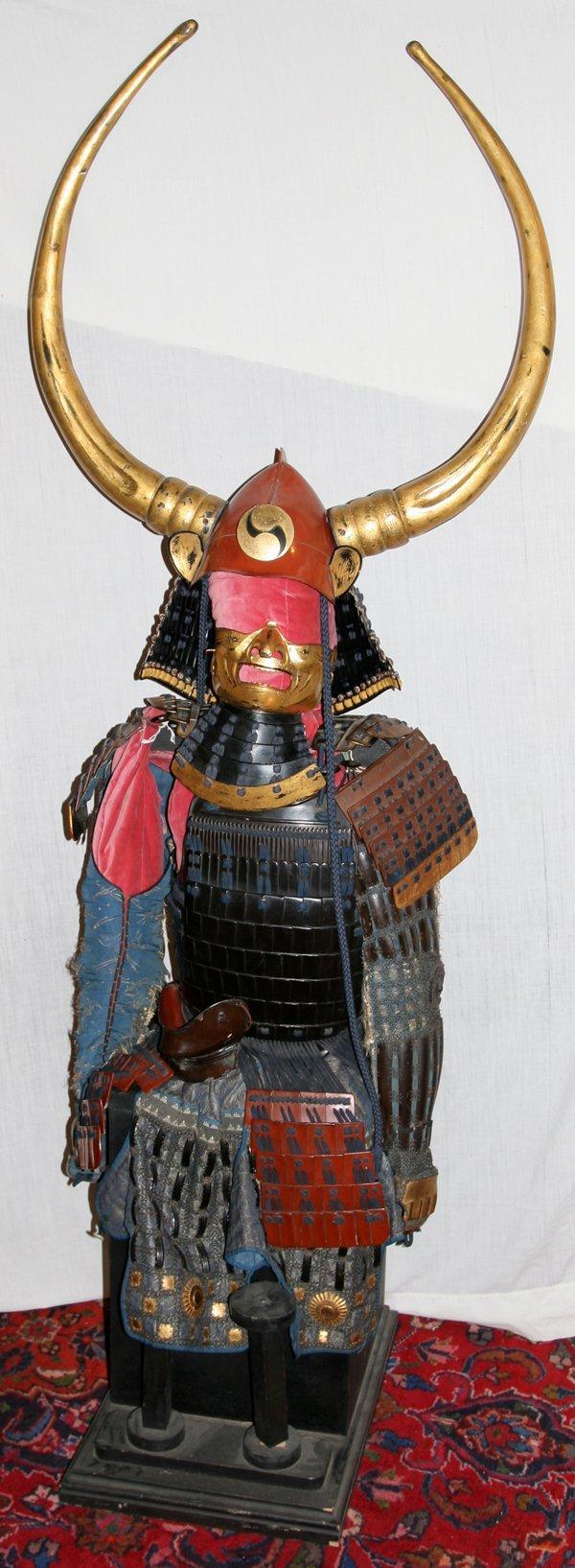 032014: JAPANESE SAMURAI WARRIOR SUIT OF ARMOR 18TH C