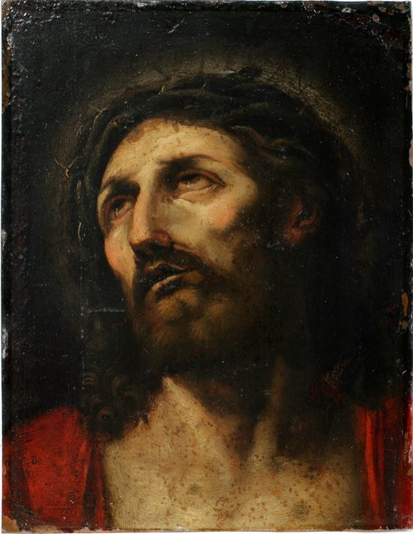 """032019: OLD MASTER """"CHRIST W/CROWN OF THORNS"""""""