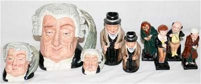 032408: ROYAL DOULTON CHARACTER MUGS, JUGS & FIGURES