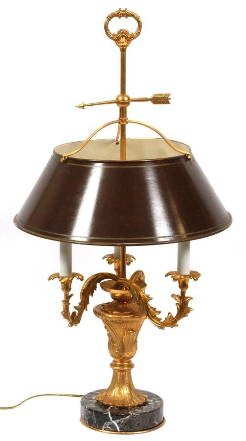 FRENCH D'ORE BRONZE CANDELABRA FORM LAMP