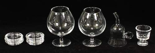 STEUBEN CRYSTAL BRANDY SNIFTERS ARTICLES