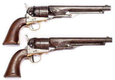 COLTS PATENT MODEL 1861, PERCUSSION CAP REVOLVERS