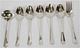 TIFFANY  CO ENGLAND STERLING SILVER FLATWARE 7 PCS