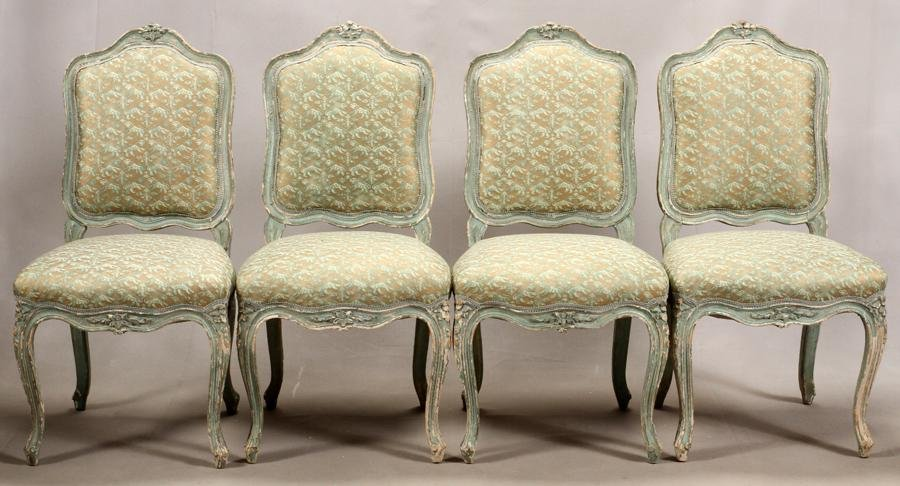 FRENCH LOUIS XV STYLE  CHAIRS, 4 PCS