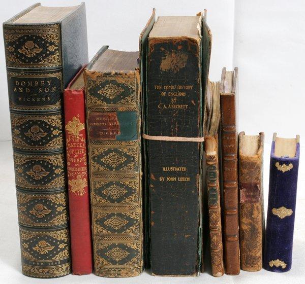 040021: DICKENS, CRUIKSHANK, LEECH, & MORE BOOKS