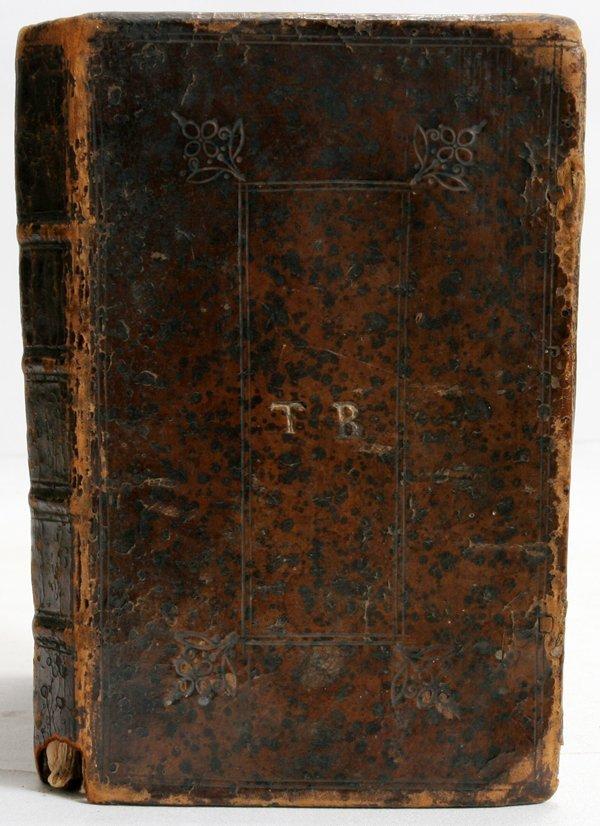 "040022: THOMAS BLANCH BOOK, 1696,  H 6 1/4"""