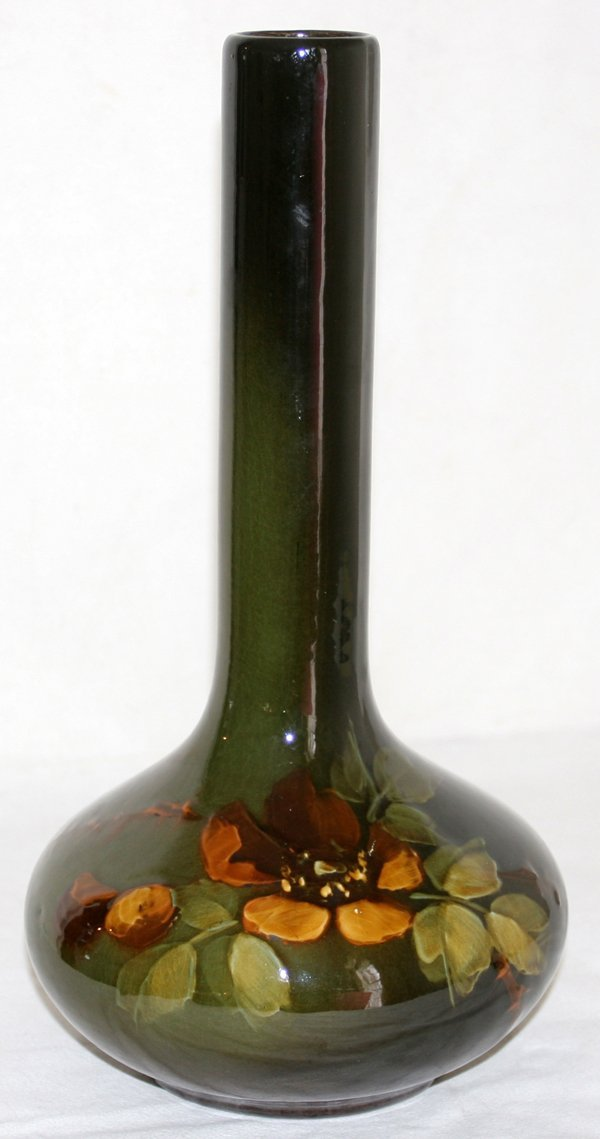 """041019: OWENS ART POTTERY VASE EARLY 20TH C. H13 1/2"""""""