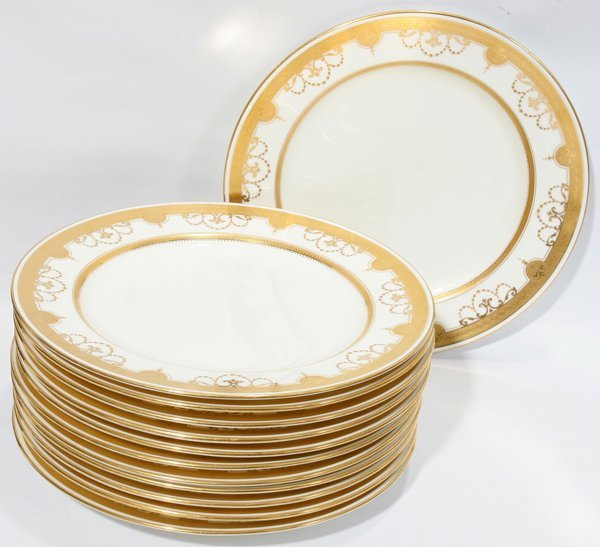 041020: MINTON PORCELAIN PLATES RETAILED BY TIFFANY