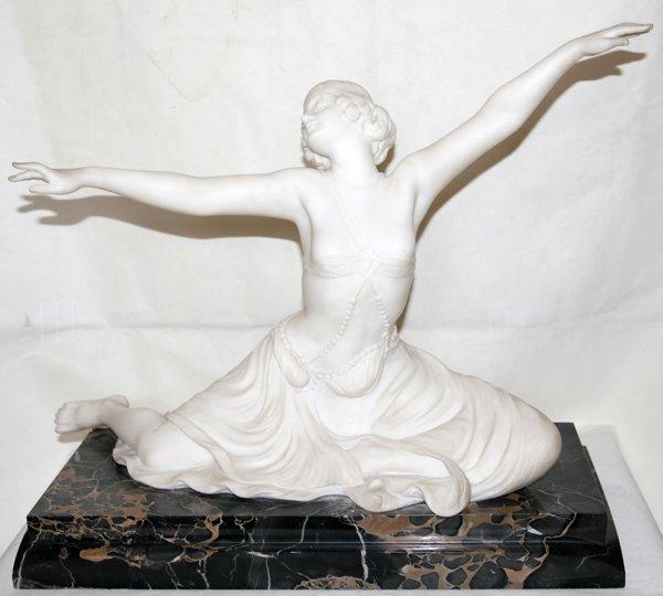 041059: E. BRUNELLESCHI MARBLE SCULPTURE OF A DANCER