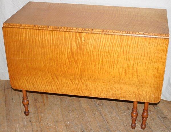 041078: AMERICAN TIGER STRIPE MAPLE DROP-LEAF TABLE