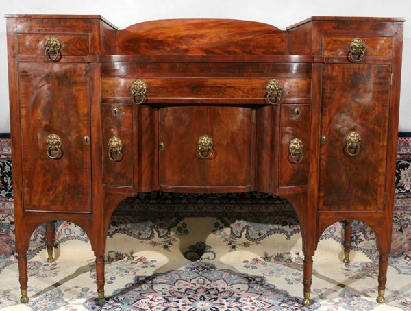 042022: ATTRIBUTED DUNCAN PHYFE, MAHOGANY SIDEBOARD