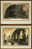 CAVALIER PIRANESI, ENGRAVINGS, 2 PCS