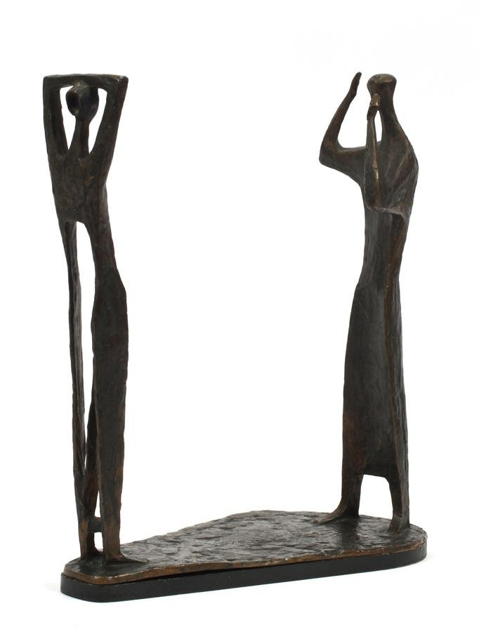 SEFF WEIDL BRONZE SCULPTURE OF STANDING FIGURES
