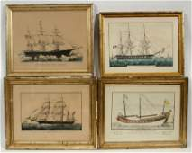 CURRIER  IVES LITHOGRAPHS ON PAPER 4 PCS