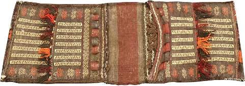 PERSIAN WOOL SADDLE BAG, W 2', L 4'