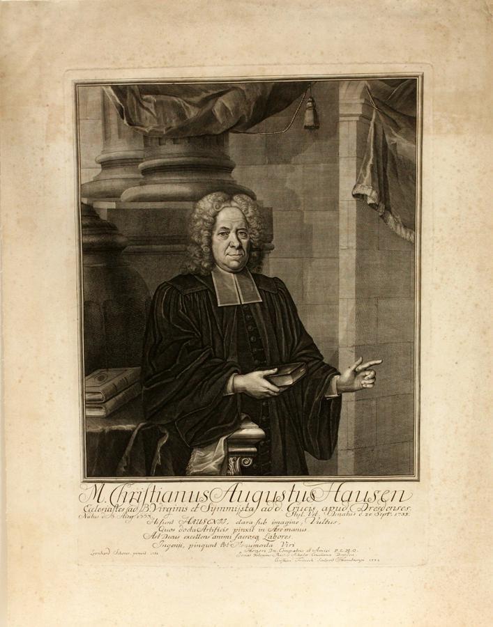 CHRISTIAN F. FRITZSCH, ENGRAVING ON PAPER, 1732