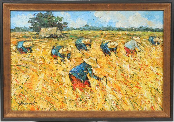 052019: NOPARAT LIVISIDDHI OIL ON CANVAS, GLEANERS