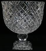 052211 WATERFORD CUT CRYSTAL COMPOTE UNSIGNED H 11