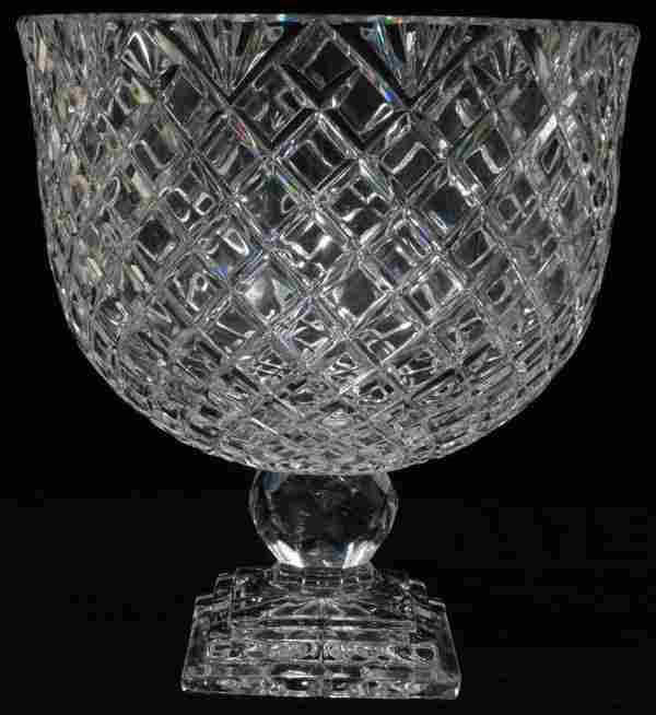 """WATERFORD CUT CRYSTAL COMPOTE, UNSIGNED H 11"""""""