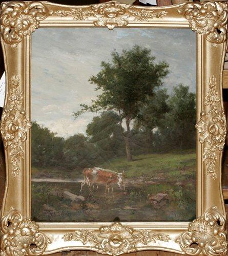 120008: THOMAS SIDNEY COOPER (1803-1902), OIL ON CANVAS