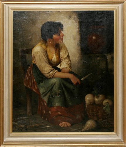 120010: Z. L. RONEY, OIL ON CANVAS MOUNTED ON BOARD, 'P