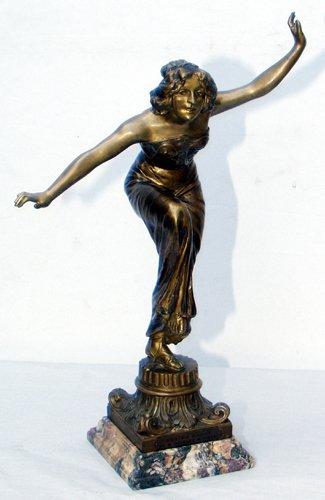 120013: MAURICE GUIRAUD RIVIÈRE (FRENCH B. 1881), BRONZ