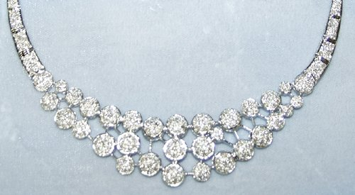 120014: 18KT WHITE GOLD & 6.30CT DIAMOND TOTAL WEIGHT N