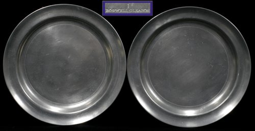 121019: AMERICAN PEWTER PLATES, ROSWELL GLEASON, TWO, D