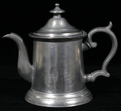 121021: AMERICAN PEWTER COFFEE POT, MOREY & OBER, BOSTO