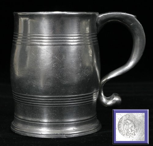 121635: AMERICAN PEWTER PINT MUG, PARKS BOYD, PHILADELP