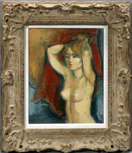 122003: JAN DE RUTH (AMERICAN B. 1922), OIL ON CANVAS,