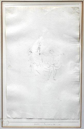 122011: PAUL KLEE (SWISS 1879-1940), INK SKETCH, 1929,