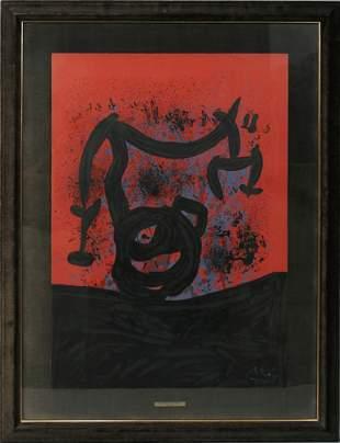 JOAN MIRO (SPANISH 1893-1983), COLOR LITHOGRAPH